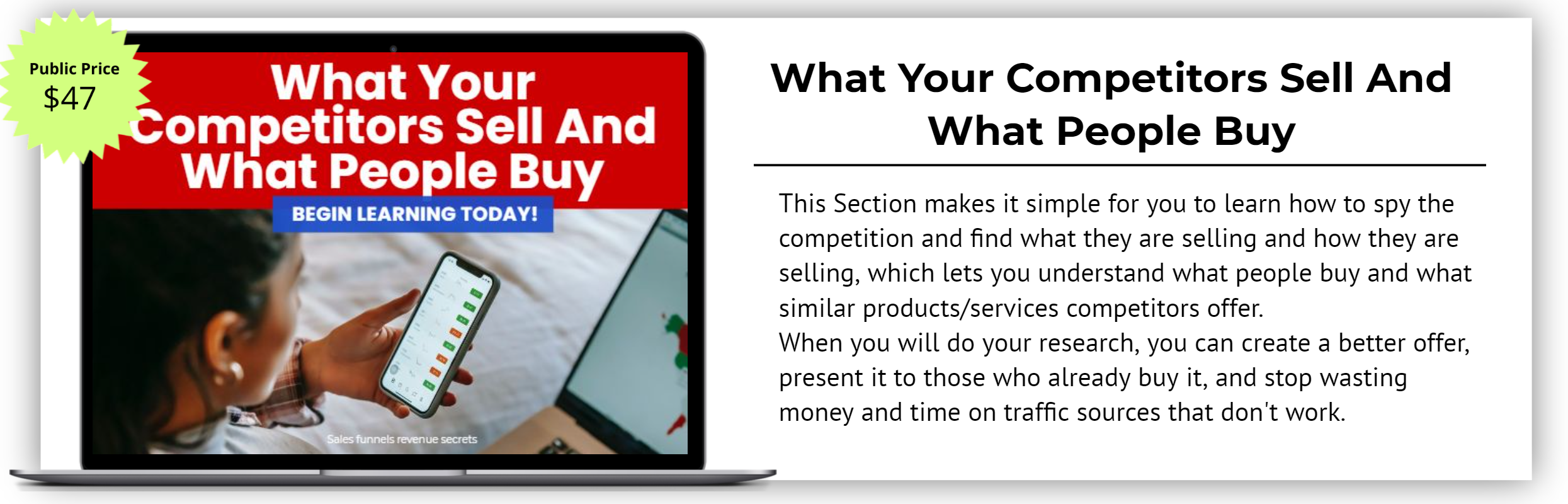 What Your Competitors Sell And What People Buy