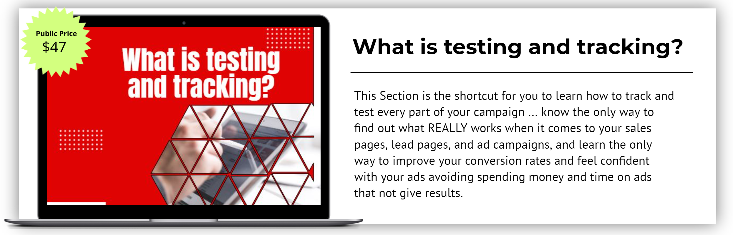 What is testing and tracking_